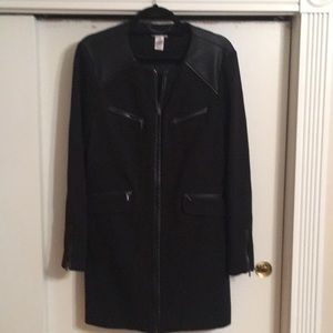 Jacket with Leather Accents